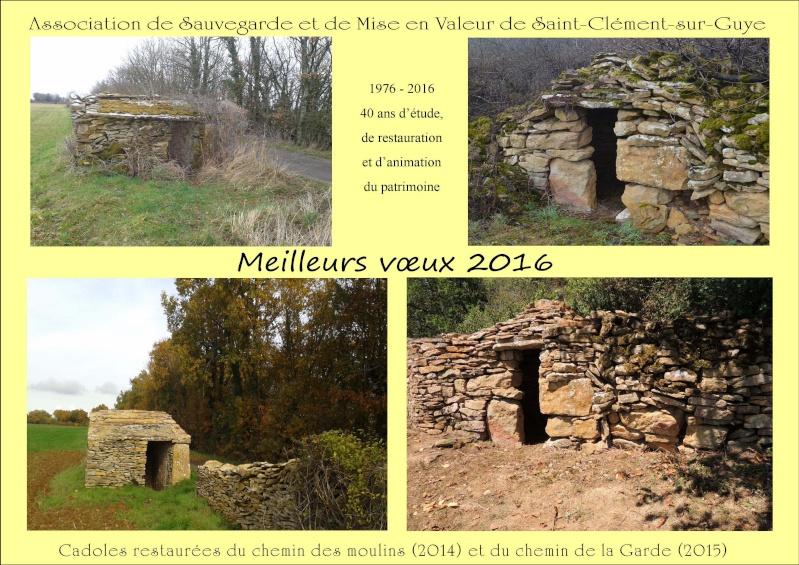 Vœux de l'Association de Sauvegarde et de Mise en Valeur de Saint-Clément-sur-Guye pour 2016  Voeux_12