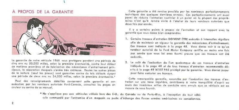 Manuel du propriétaire Mustang 1968 édition française Canada Page_013