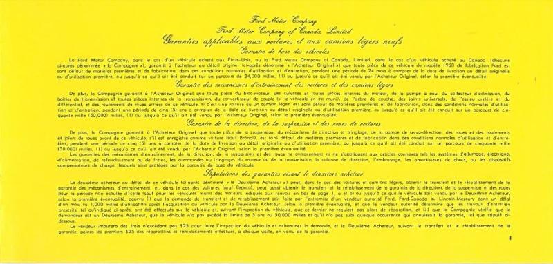 Manuel du propriétaire Mustang 1968 édition française Canada Page_313
