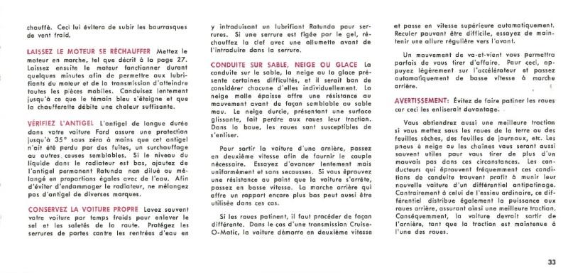 Manuel du propriétaire Mustang 1968 édition française Canada Page_318