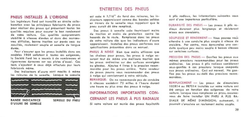Manuel du propriétaire Mustang 1968 édition française Canada Page_324