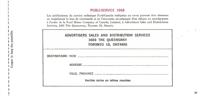 Manuel du propriétaire Mustang 1968 édition française Canada Page_519