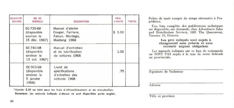 Manuel du propriétaire Mustang 1968 édition française Canada Page_610