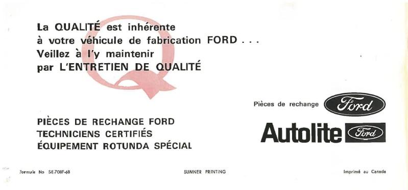 Manuel du propriétaire Mustang 1968 édition française Canada Page_615