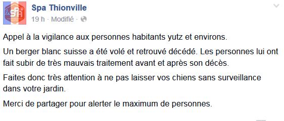 ALERTE en Moselle / environs Thionville Alerte10