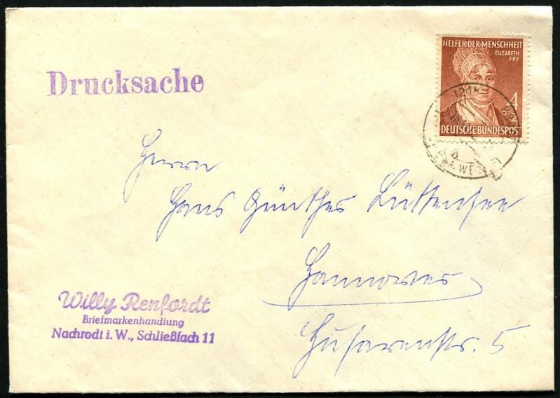 Bundesrepublik Deutschland  -  Einzel- und Mehrfachfrankaturen 156_ef10