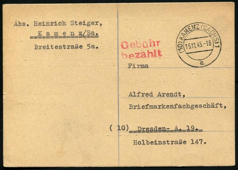 Ostsachsen (OPD Dresden) -Sowjetische Besatzungszone- - Seite 10 Gebyhr13