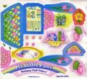 Les planches de stickers et notices des playsets Perfum10