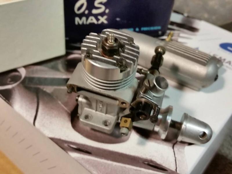 O.S. .10FP R/C w/ muffler  12464010