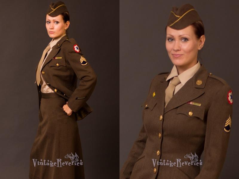 Tenues de sortie, tenues de combat, nurse des WACS 15388010
