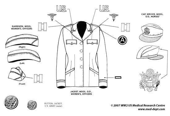 Tenues de sortie, tenues de combat, nurse des WACS 53ffa910