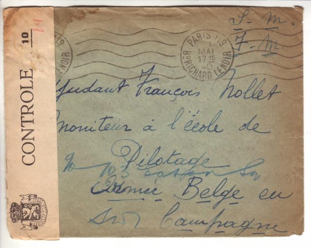 Bande de fermeture belge sur lettre de Bordeaux pour le CICR de Genève 1005410