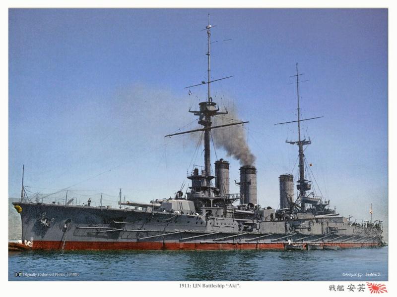 Cuirassés japonais - Page 2 Aki_1910