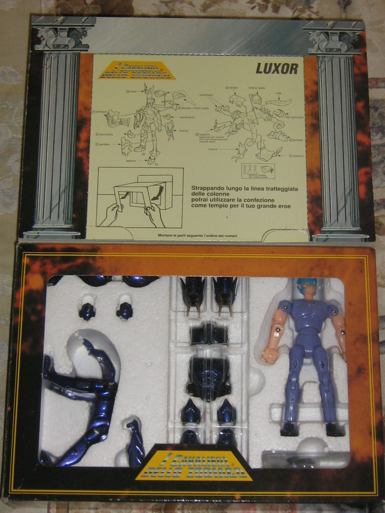 Vendo CAVALIERI DELLO ZODIACO SCATOLA TEMPIO 1989 Luxor_11