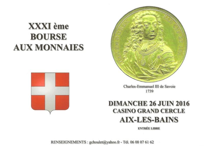 31EME BOURSE AUX MONNAIES D'AIX-LES-BAINS. 26 JUIN 2016. Carte_11