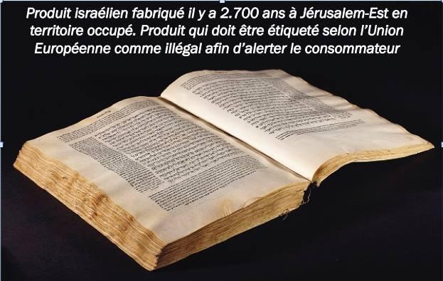 Etiquettage des produits de Judée Samarie  Bible_10