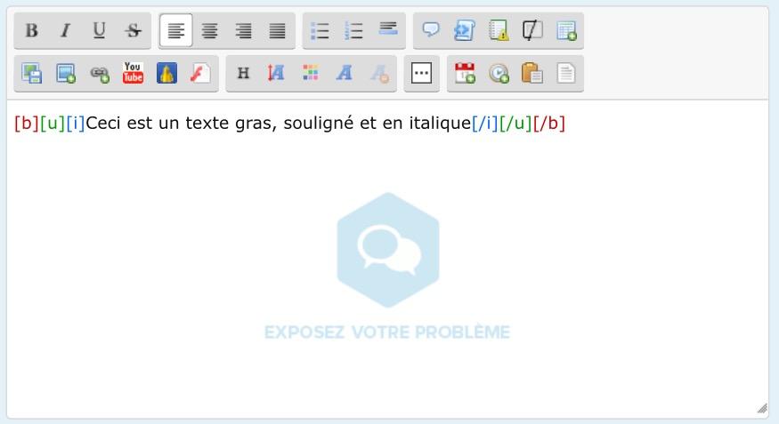 [BBcode] Balises BBCode colorisées dans l'éditeur Image11