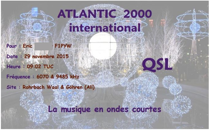 QSL d'Atlantic 2000 (suite) Atl111