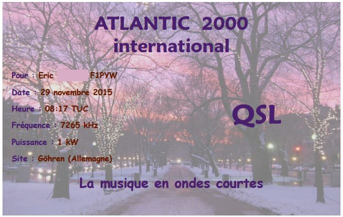 QSL d'Atlantic 2000 (suite) Atl211