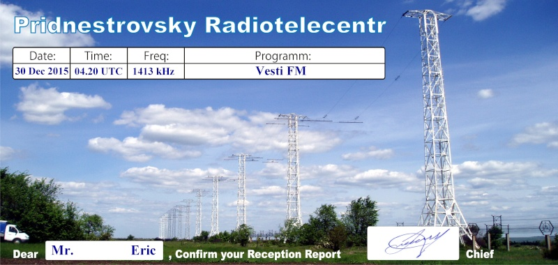 eQSL de Vesti radio en MW Vesti10