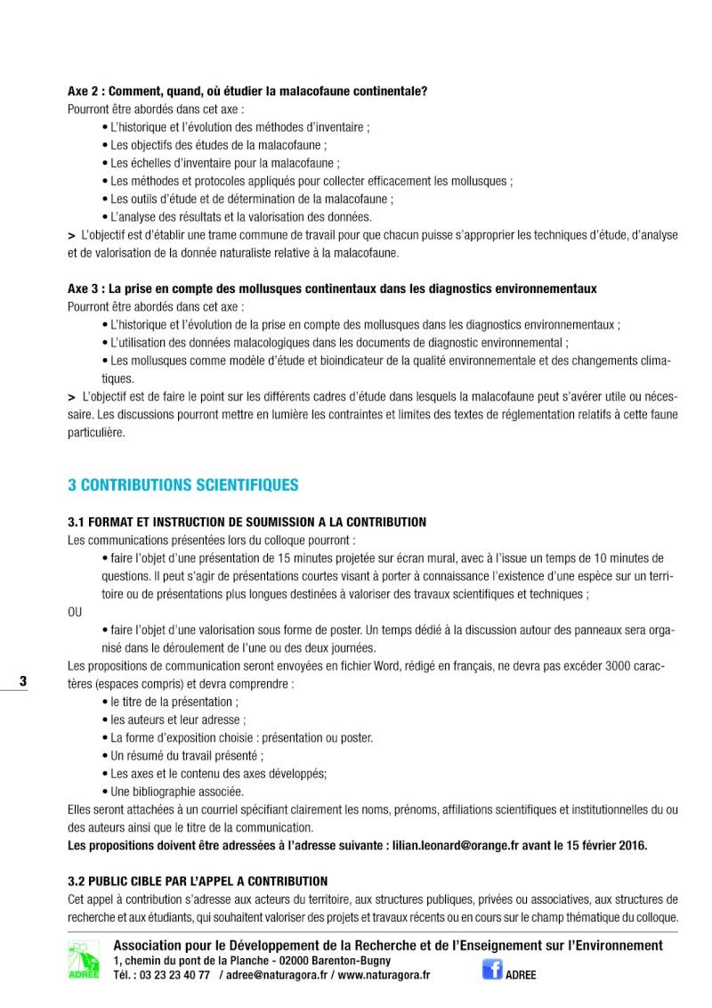 Colloque de malacologie continentale 30 & 31 mars 2016 Colloq13
