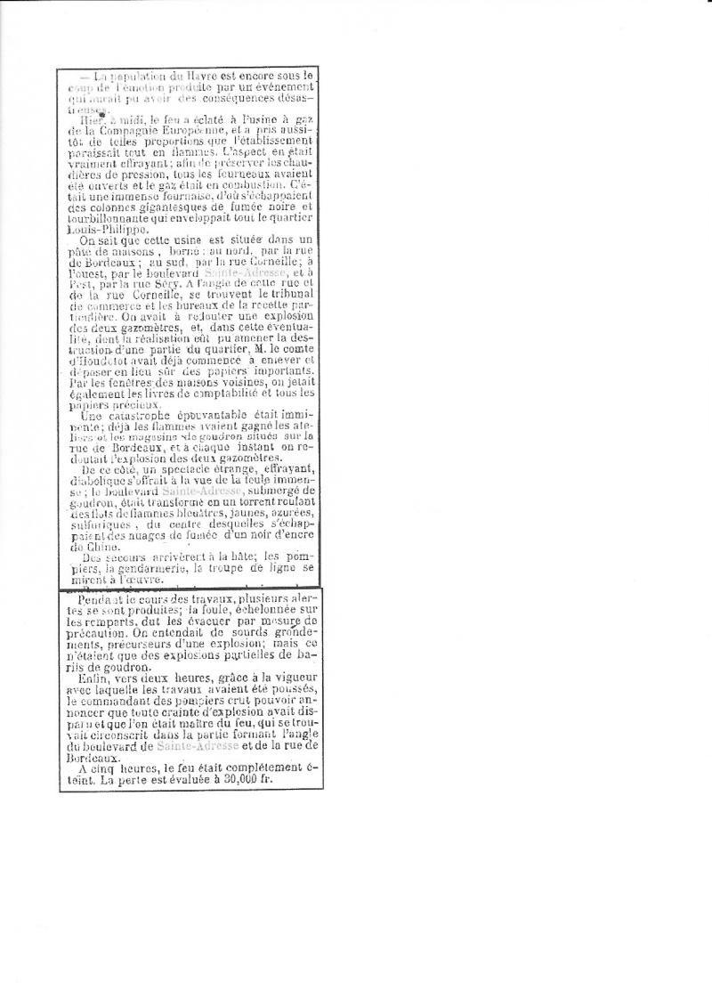 1921 - Incendie au Havre, Millerand ...  Incend11