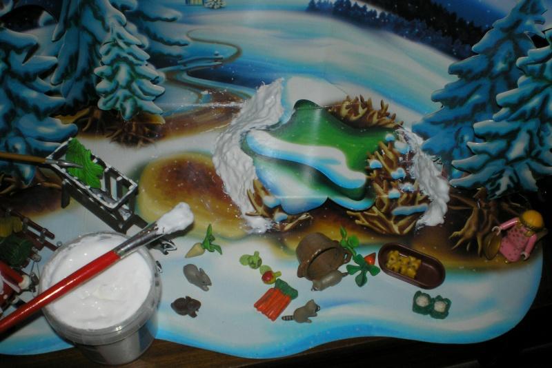 Weihnachtswelt mit PLAYMOBIL-Figuren und -Zubehör 004a1a10