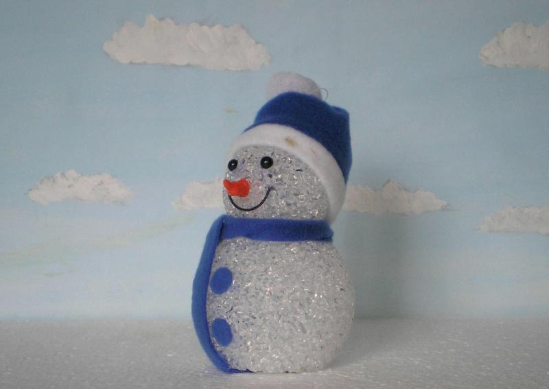 Figuren zur Weihnachtsdekoration - meine Sammlung, Restaurierungen & Bemalungen Schnee11