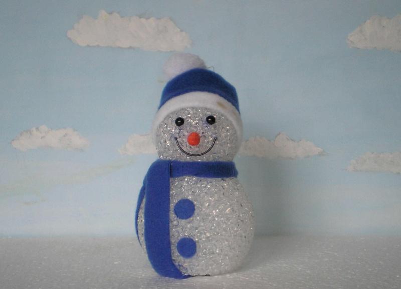 Figuren zur Weihnachtsdekoration - meine Sammlung, Restaurierungen & Bemalungen Schnee12