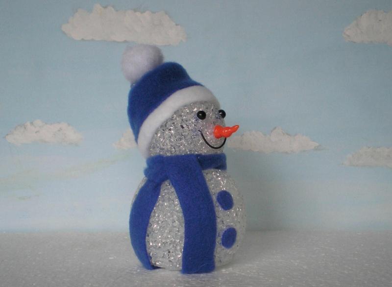 Figuren zur Weihnachtsdekoration - meine Sammlung, Restaurierungen & Bemalungen Schnee13