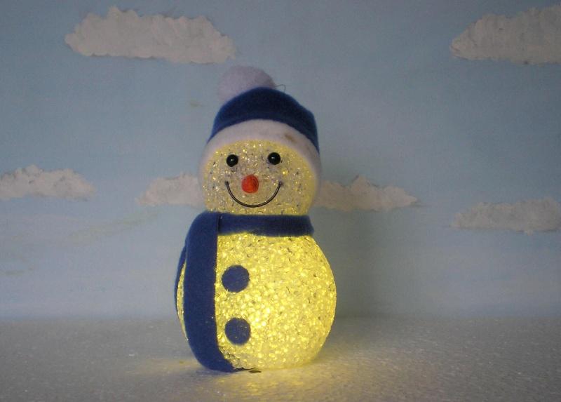Figuren zur Weihnachtsdekoration - meine Sammlung, Restaurierungen & Bemalungen Schnee14
