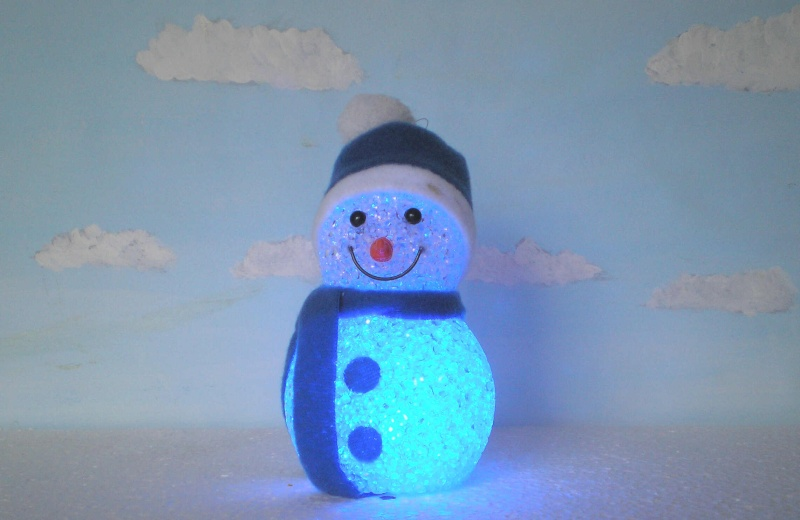 Figuren zur Weihnachtsdekoration - meine Sammlung, Restaurierungen & Bemalungen Schnee17