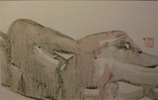 Hui Zheng, peintre chinoise résidant à Grenoble Nu10
