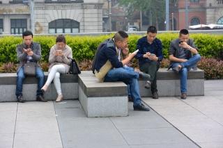 Avril 2015 en Chine (8) : du téléphone fixe à l'internet mobile, le Musée des Arts de la Chine à Shanghai Tel10