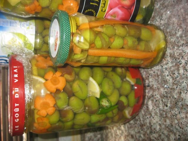оливки - Зеленые оливки-3 (с  морковью, острым перцем и лимоном) Img_5910
