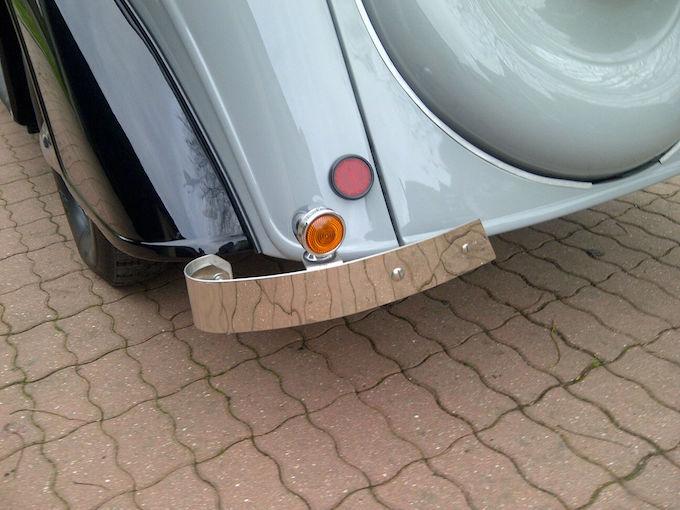 Refabrication de demi-lames arrières de pare-chocs en inox par Mairesse Demi-l10