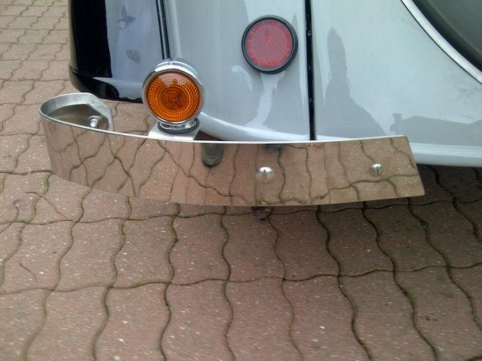 Refabrication de demi-lames arrières de pare-chocs en inox par Mairesse Demi-l12