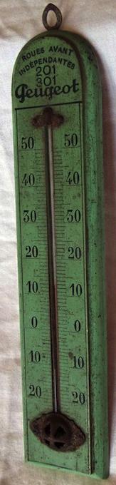 Thermomètre publicitaire PEUGEOT Thermo10