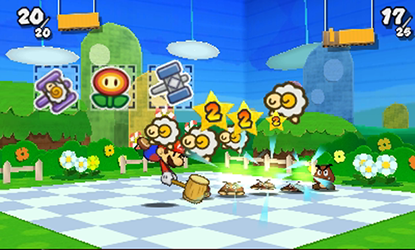 Paper Mario Sticker Star (Test 3DS) Combat10