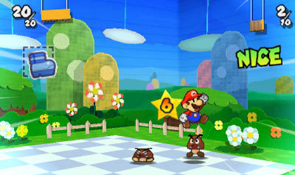 Paper Mario Sticker Star (Test 3DS) Combat11