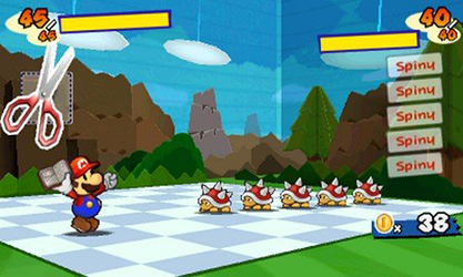 Paper Mario Sticker Star (Test 3DS) Combat13