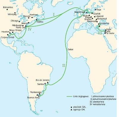 "Plomb de scelle ""Linja Gdynia Ameryk – P.T.T.O."" Lignes10"