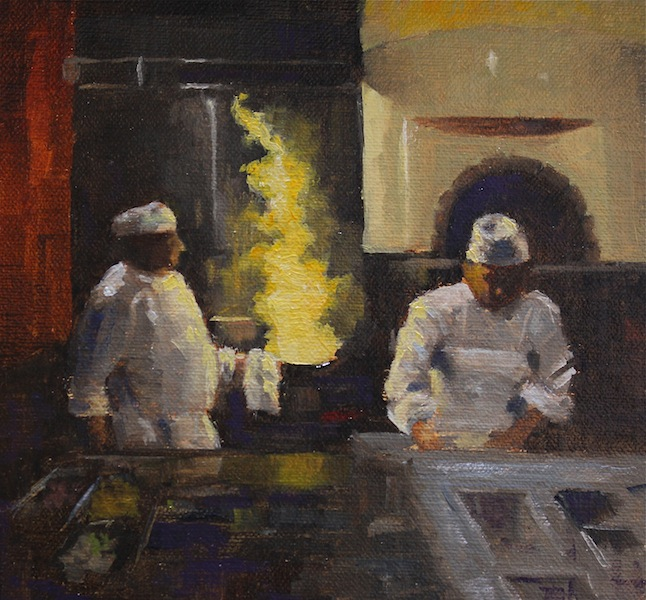 Painting #121: Macaroni Grill Cooks Cook10