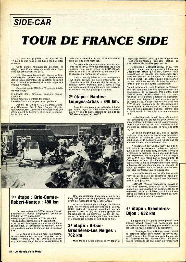 [Oldies] 1980 à 1988: Le Tour de France side-car, par Joël Enndewell  - Page 6 19820810