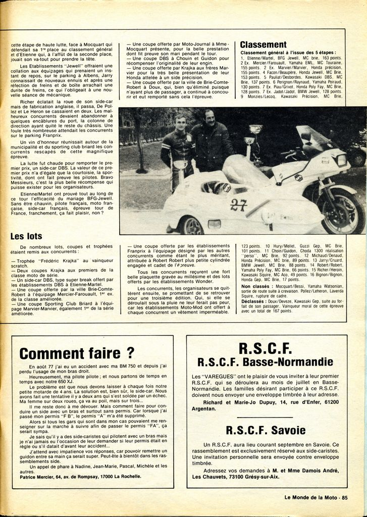 [Oldies] 1980 à 1988: Le Tour de France side-car, par Joël Enndewell  - Page 6 19820811