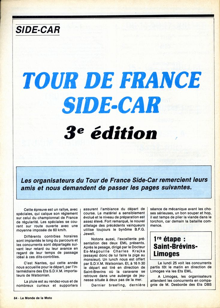 [Oldies] 1980 à 1988: Le Tour de France side-car, par Joël Enndewell  - Page 6 19830810