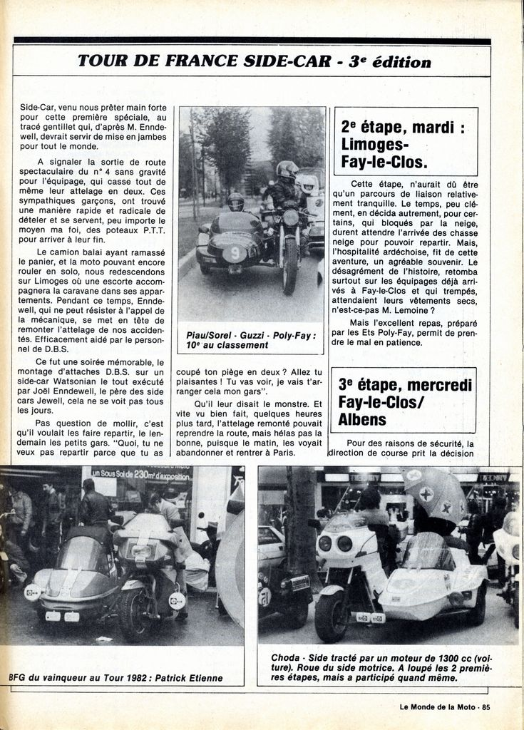 [Oldies] 1980 à 1988: Le Tour de France side-car, par Joël Enndewell  - Page 6 19830811