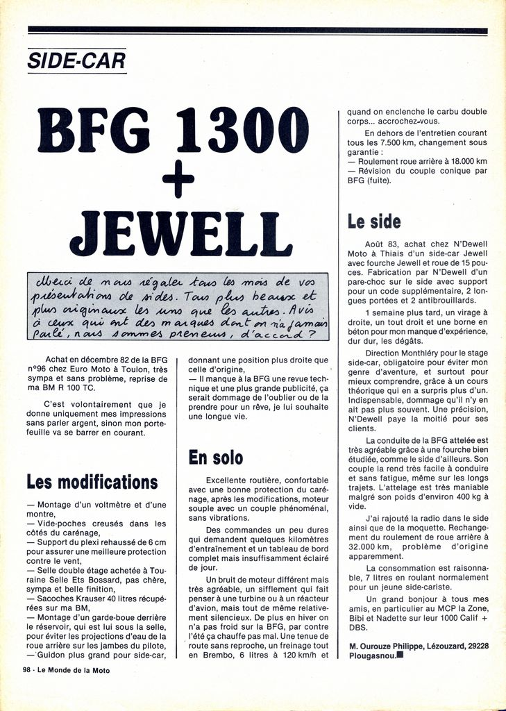 [Oldies] 1980 à 1988: Le Tour de France side-car, par Joël Enndewell  - Page 6 19840510
