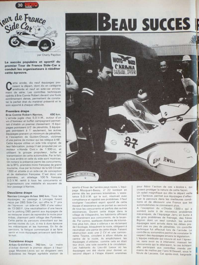 [Oldies] 1980 à 1988: Le Tour de France side-car, par Joël Enndewell  - Page 6 P1090510