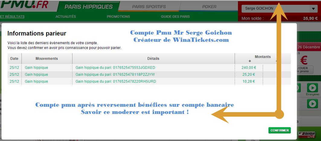 Compte Pmu De Mr Serge Goichon. 17_110